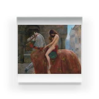 世界の絵画アートグッズのジョン・コリア 《ゴダイヴァ夫人》 Acrylic Block