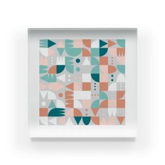 random shapes Acrylic Block