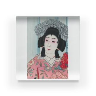 川瀬巴水《中村芝翫 雪姫》  Acrylic Block