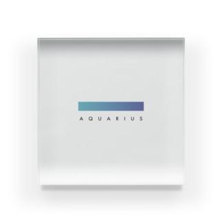 【星座グラデ】水瓶座/Aquarius Acrylic Block