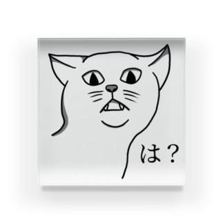 可愛くない猫 Acrylic Block