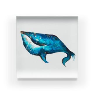 あおいクジラ Acrylic Block