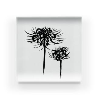 曼珠沙華 黒 Acrylic Block