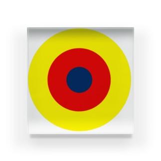 サークルa・黄・赤・紺 Acrylic Block