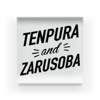 tenpura and zarusoba 天ぷら&ざるそば Acrylic Block