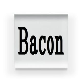 アメリカンベース  のベーコン 料理 グッズ 雑貨 Acrylic Block