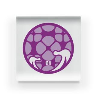 パ紋No.3436 勇智 Acrylic Block
