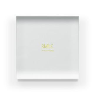 Smile ロゴ Acrylic Block