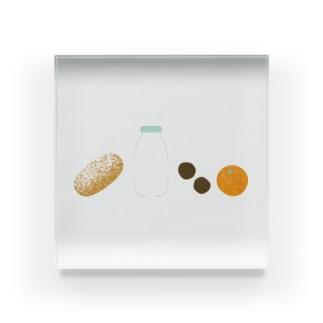 給食 Acrylic Block
