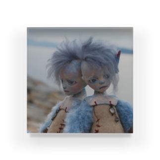 青色の旅 Acrylic Block