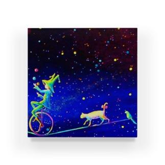 猫モチーフ_Star Light Acrylic Block