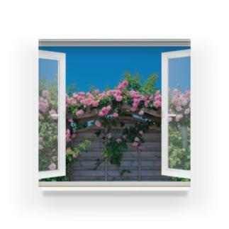 薔薇園の窓辺 Acrylic Block