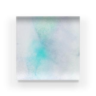 青緑色の光 Acrylic Block