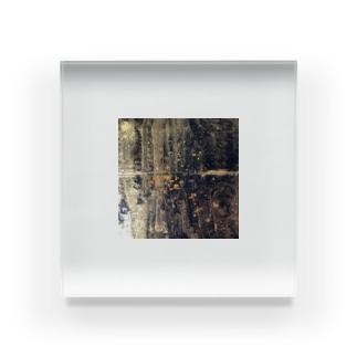 アーティスト虹丸のクラックアート Acrylic Block
