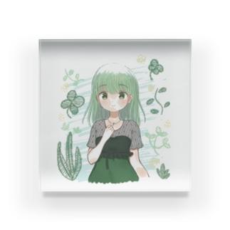 みどりちゃん Acrylic Block