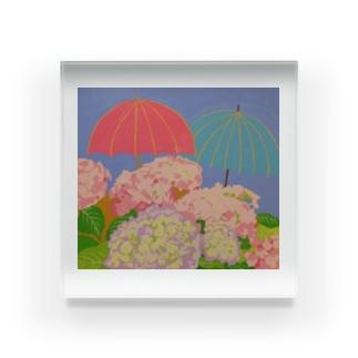 傘紫陽花 Acrylic Block