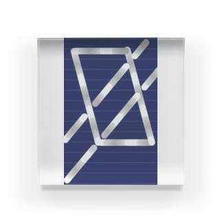 四角パターン3 Acrylic Block