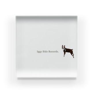 Iggy side records. Acrylic Block