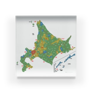 北海道179市町村地図 Acrylic Block