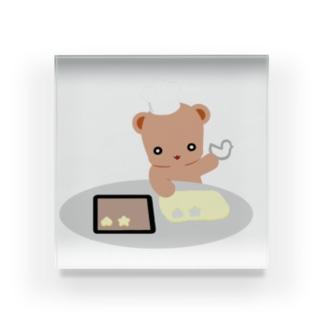クッキーとクマさん Acrylic Block