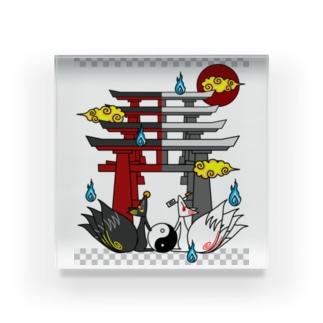 四尾*妖の夜 Acrylic Block