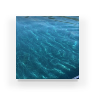 綺麗な水色 Acrylic Block