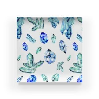 Mineral Glass (Sapphire) Acrylic Block