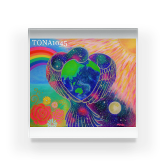 TONA1045の宇宙鳥 Acrylic Block