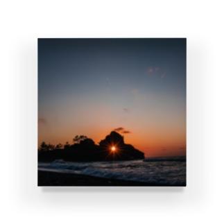 窓岩のダイアモンド夕日 Acrylic Block