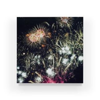爆発する花 Acrylic Block