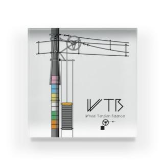 WTBと電柱(高崎エリア) Acrylic Block
