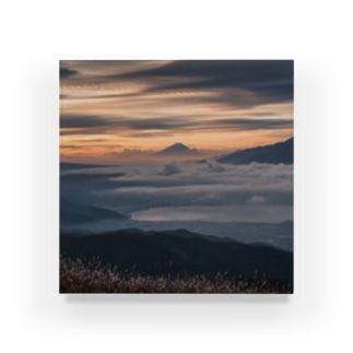 富士山と雲海 Acrylic Block