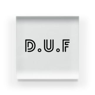 DUFロゴ Acrylic Block