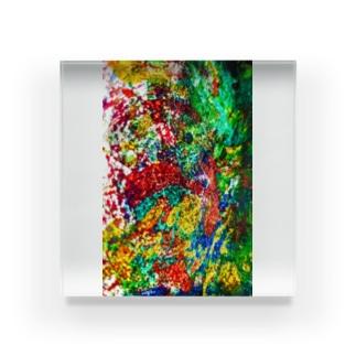 絵画の花 Acrylic Block