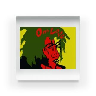 ONE LOVE 2 Acrylic Block