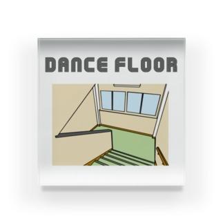 踊り場に華やかな光~それはダンスフロア~ Acrylic Block