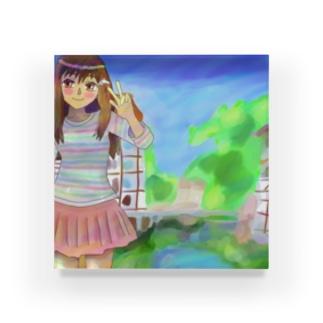 童話のような町 Acrylic Block