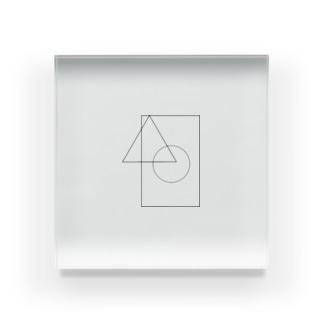 丸三角四角 Acrylic Block