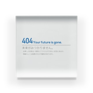 404ERROR Acrylic Block