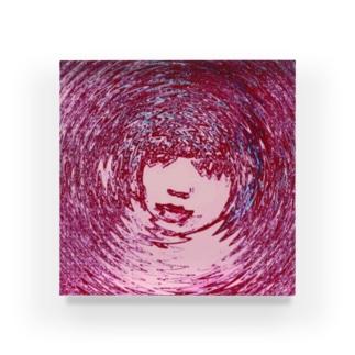 「たのしいみなも」(ピンク) Acrylic Block
