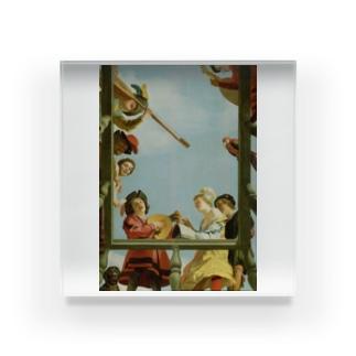 ヘラルト・ファン・ホントホルスト 《バルコニーの音楽隊》 Acrylic Block