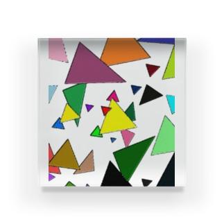 Trianglez_T Acrylic Block