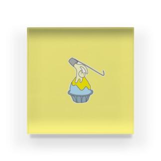 練乳ねこかき氷(レモン) Acrylic Block
