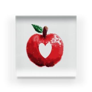 りんご 「エル」 Acrylic Block