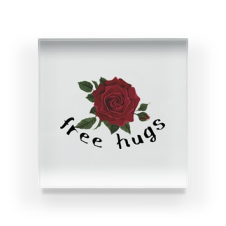 free hugs Acrylic Block