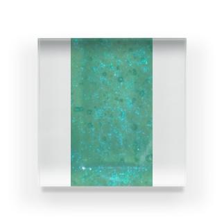 キラキラ(ターコイズブルー) Acrylic Block