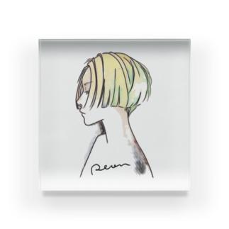 横顔・彩 Acrylic Block