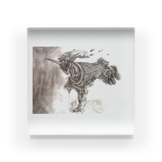 運命の馬 Acrylic Block