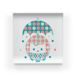 梅雨のアマビエちゃん Acrylic Block