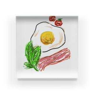 朝ごはん何食べた? Acrylic Block